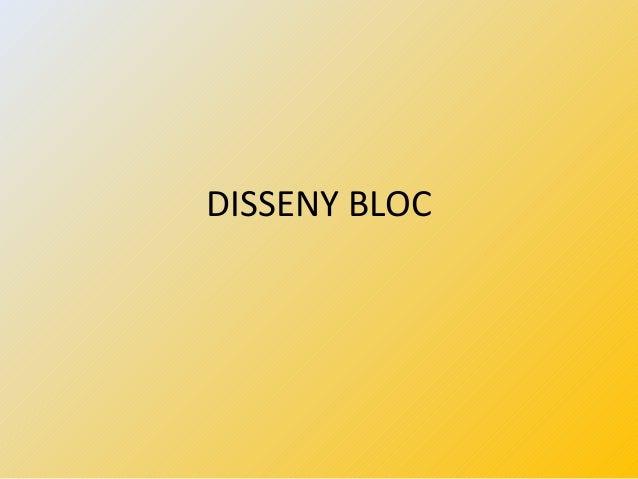 DISSENY BLOC