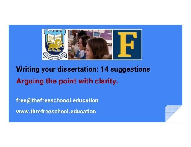 dissertation writing suggestions