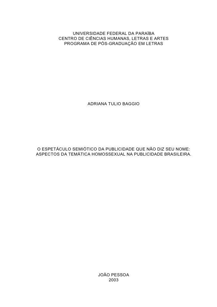UNIVERSIDADE FEDERAL DA PARAÍBA         CENTRO DE CIÊNCIAS HUMANAS, LETRAS E ARTES           PROGRAMA DE PÓS-GRADUAÇÃO EM ...