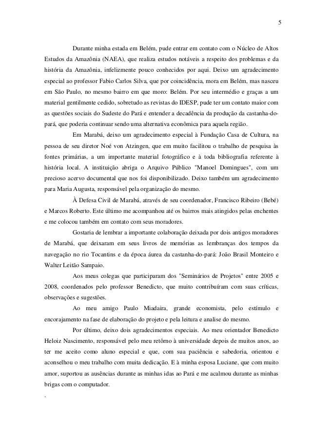5 Durante minha estada em Belém, pude entrar em contato com o Núcleo de Altos Estudos da Amazônia (NAEA), que realiza estu...