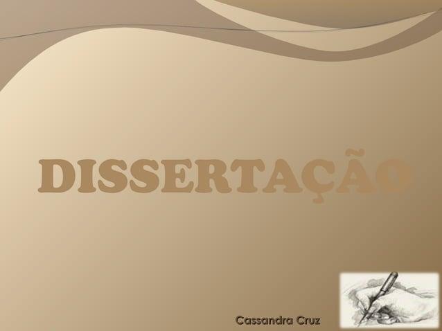 DISSERTAÇÃO     Cassandra Cruz