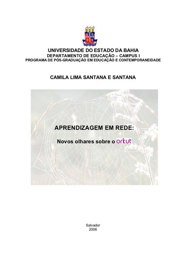 UNIVERSIDADE DO ESTADO DA BAHIA         DEPARTAMENTO DE EDUCAÇÃO – CAMPUS IPROGRAMA DE PÓS-GRADUAÇÃO EM EDUCAÇÃO E CONTEMP...