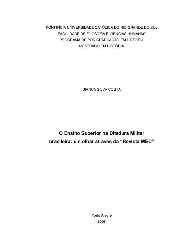 PONTIFÍCIA UNIVERSIDADE CATÓLICA DO RIO GRANDE DO SUL FACULDADE DE FILOSOFIA E CIÊNCIAS HUMANAS PROGRAMA DE PÓS-GRADUAÇÃO ...