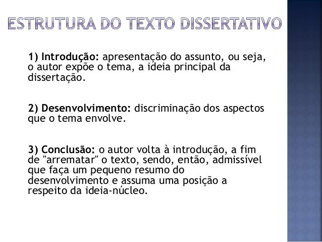 Texto argumentativo e dissertativo