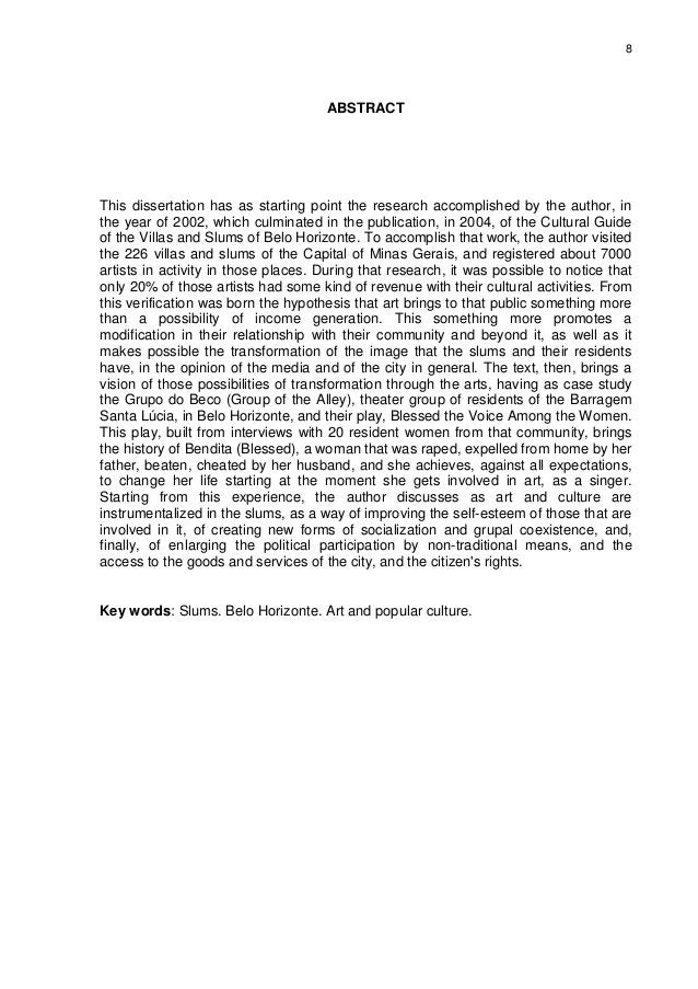 8 ABSTRACT This dissertation has as starting point the research accomplished by the author, in the year of 2002, which cul...