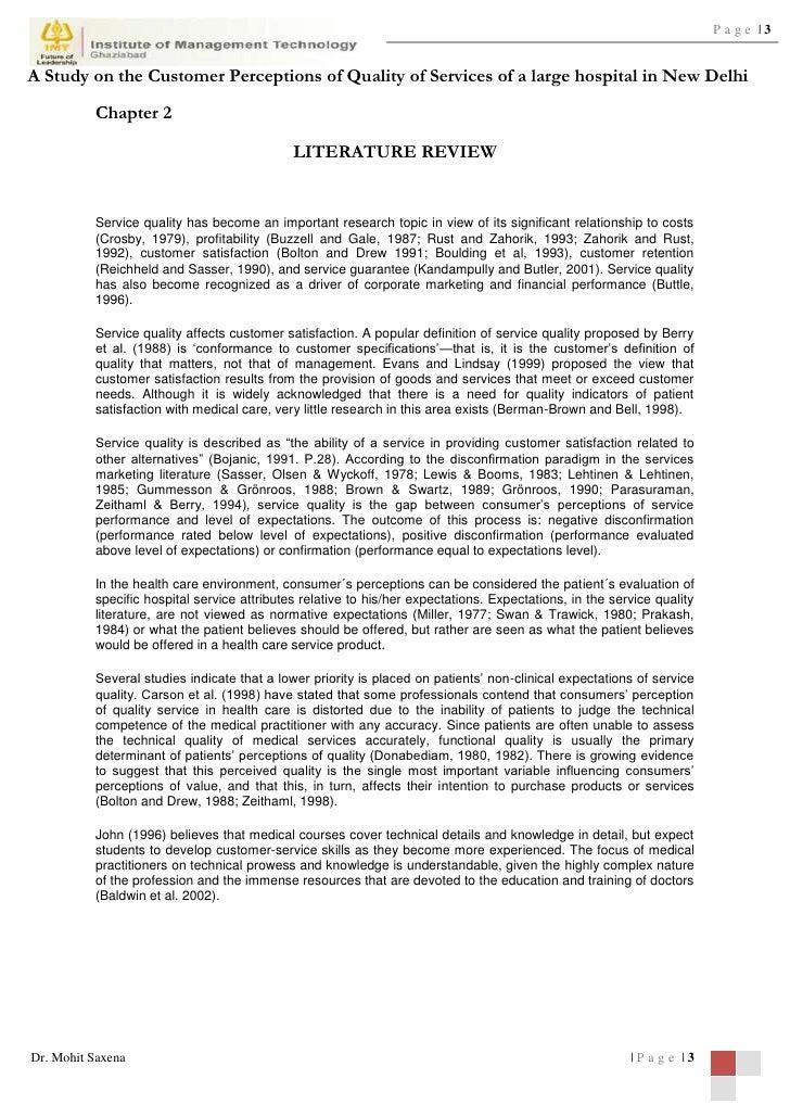 customer service dissertation proposal