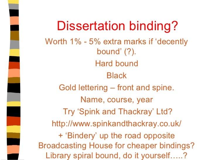 dissertation bindery