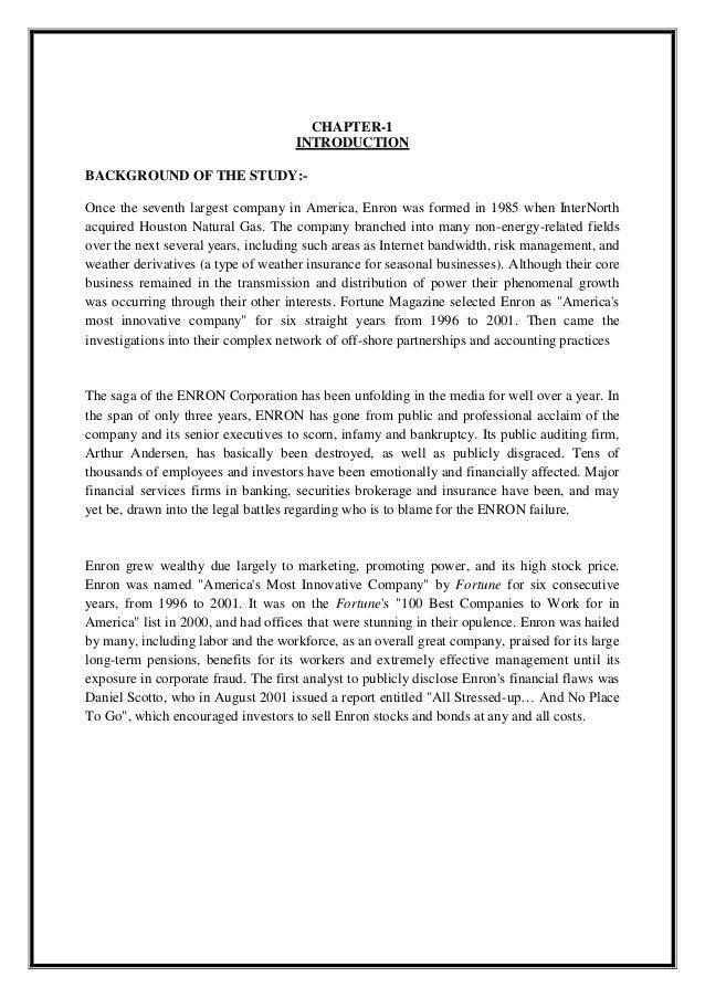 enron violated stockholder thesis