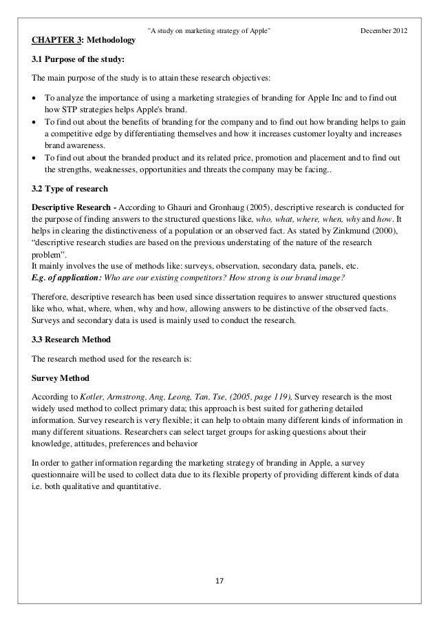 Marketing mix dissertation
