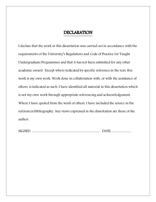 Declaration of thesis utm doc