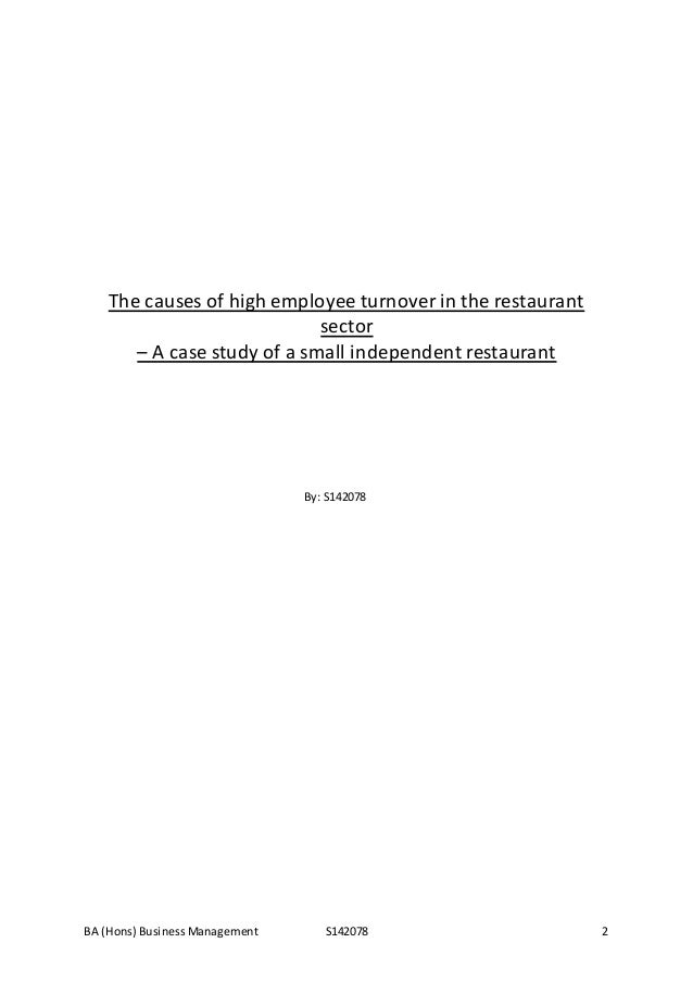 Dissertation on labour turnover