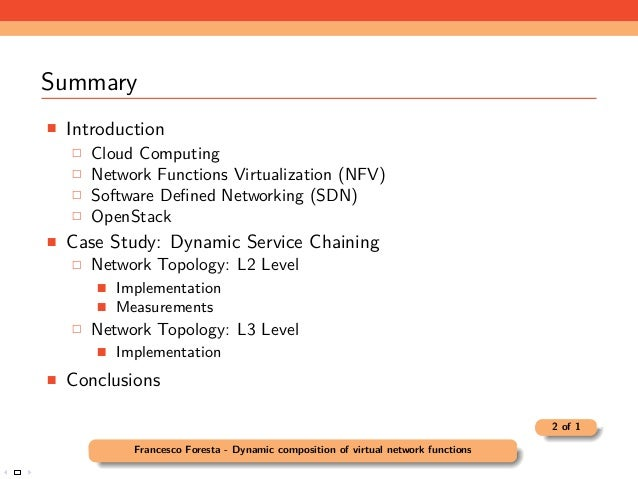 Dynamic composition of virtual network functions in a cloud environment Slide 2
