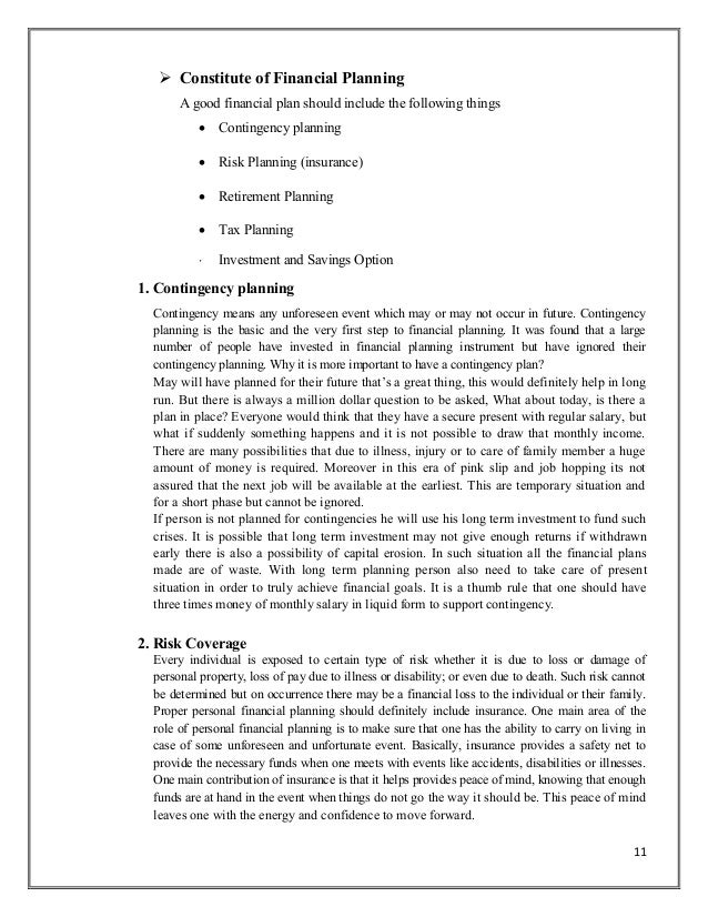 11. 11  Constitute Of Financial Planning A Good ... Nice Look