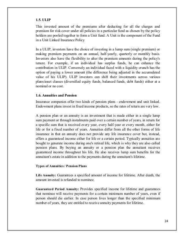 Financial dissertation