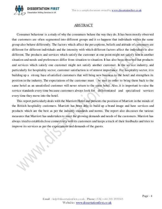 dissertation proposal hospitality management 2013-1-18  3 declaration statement this dissertation was prepared by olga zavatskaya, a student of human resource management at the university of strathclyde.