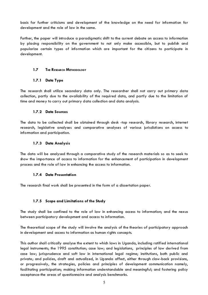 Dissertation Access To Information Amp Participatory Development