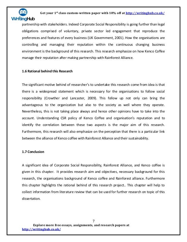 corporate social responsibility research paper topics