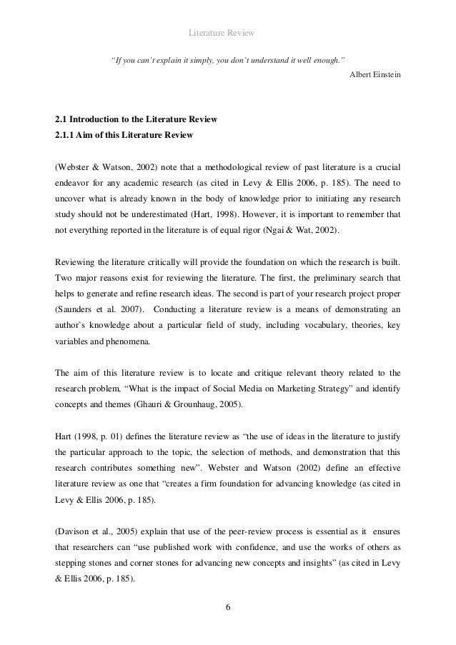 Literature review marketing dissertation