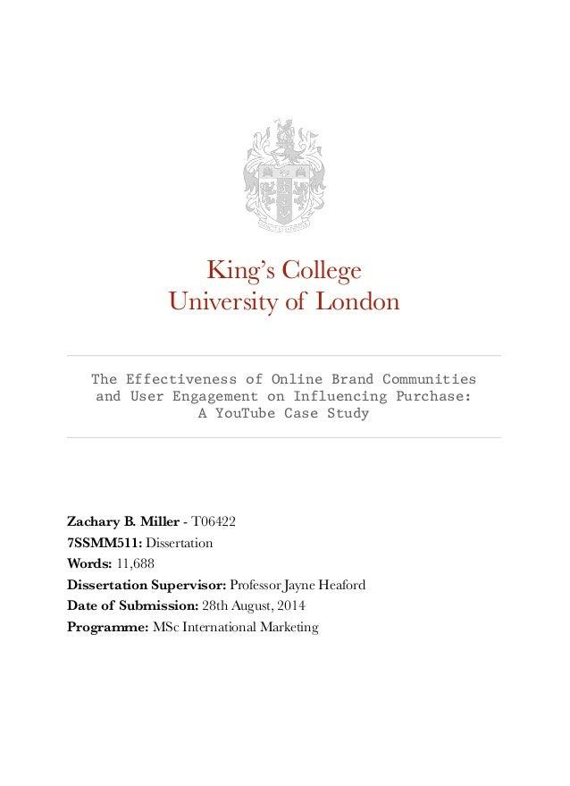 msc marketing dissertation