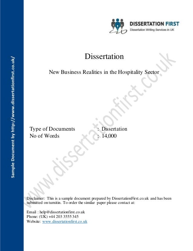 Hospitality dissertation