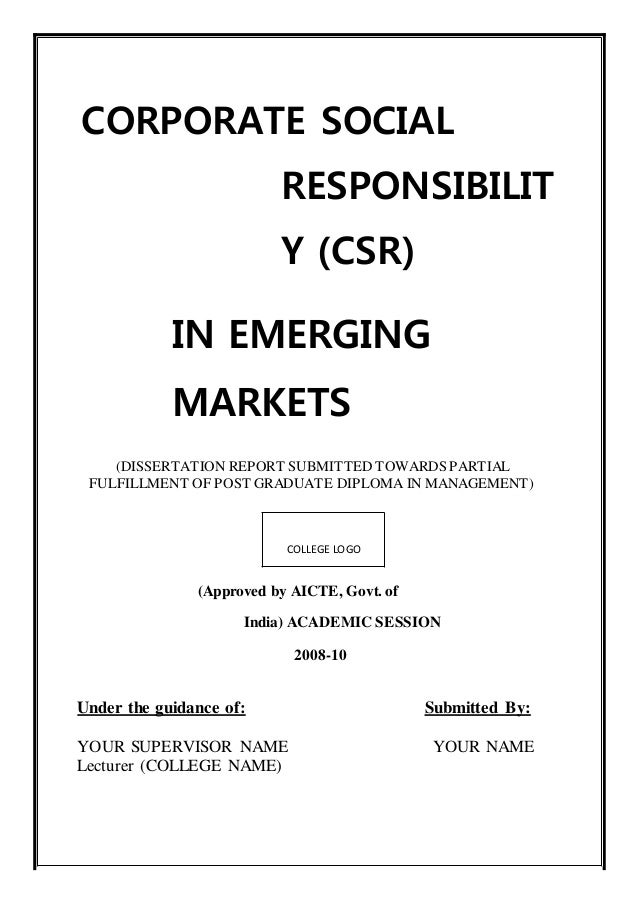 Phd thesis on csr
