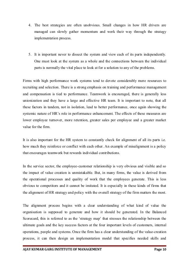 The balanced scorecard - Dissertation Example