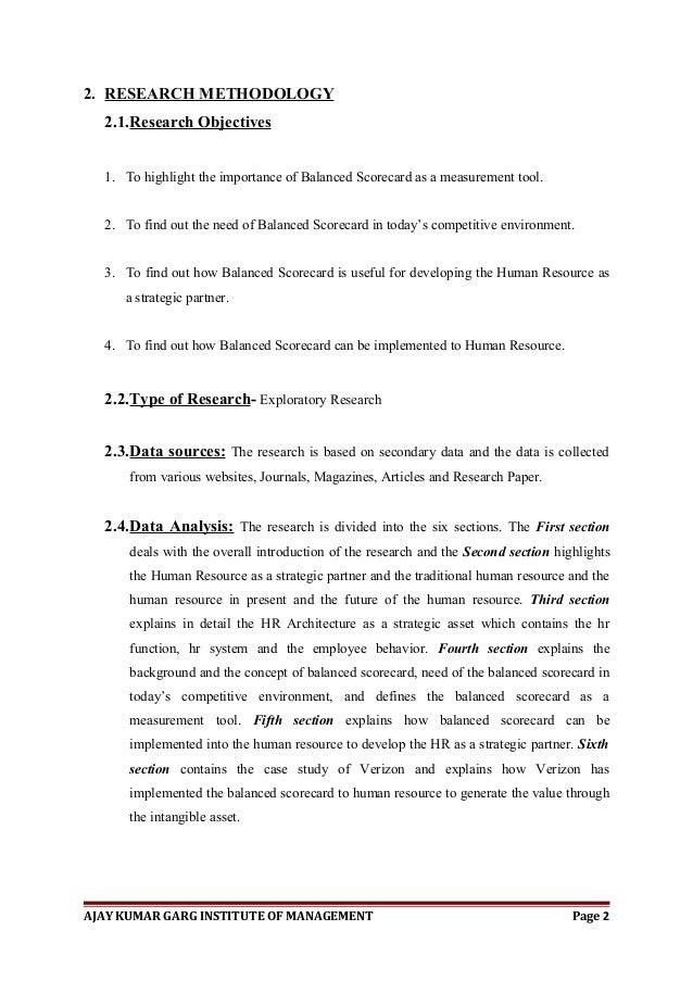 Mba hr dissertation project document