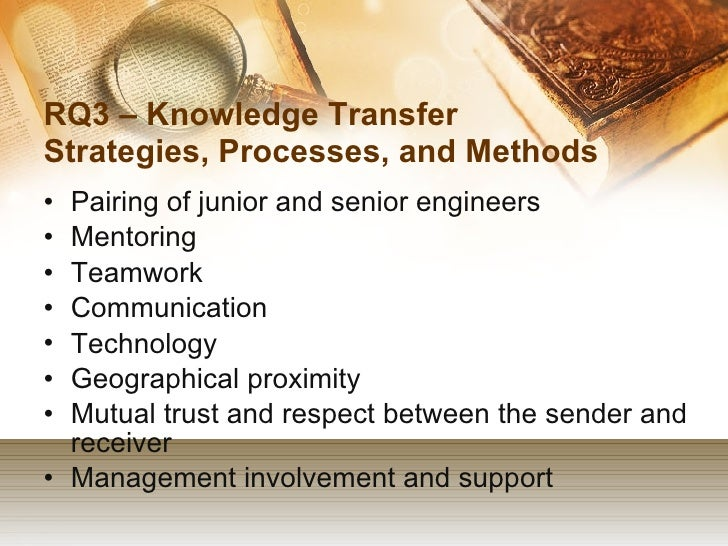Dissertation knowledge transfer
