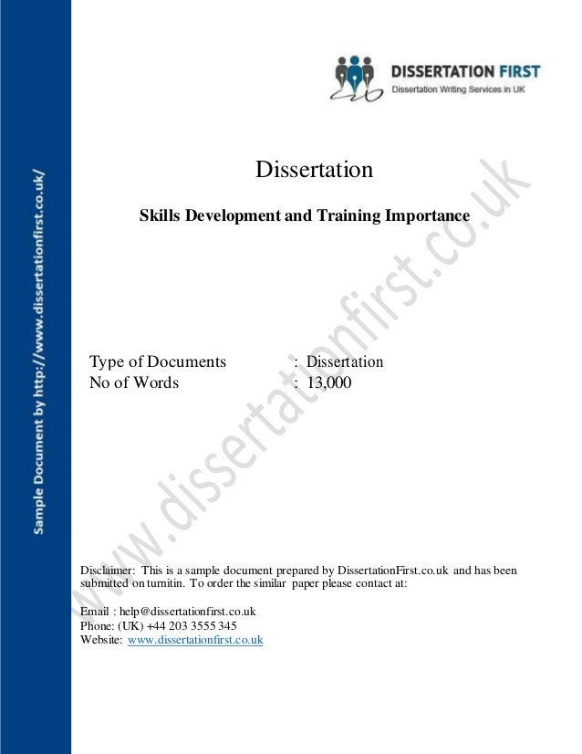 Dissertation on training