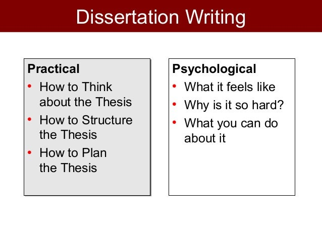 Process of dissertation writing