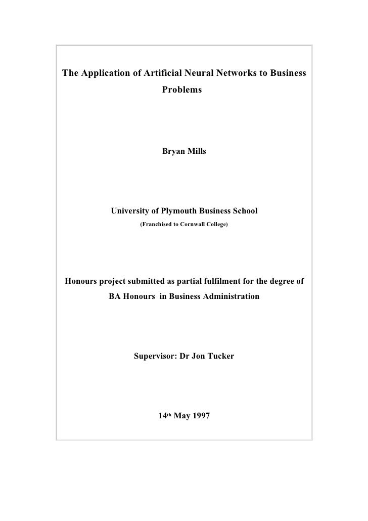Business networking dissertation