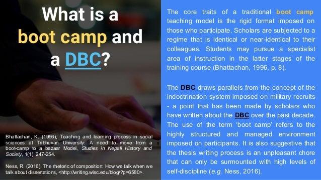 dissertation boot camp
