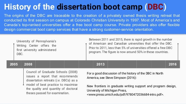 marquette dissertation boot camp