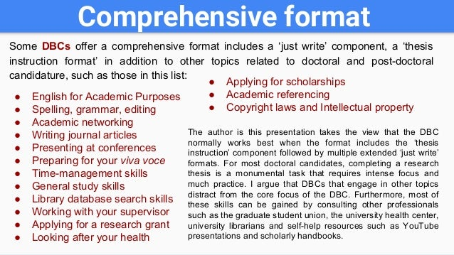 Doctoral dissertation writing boot camp
