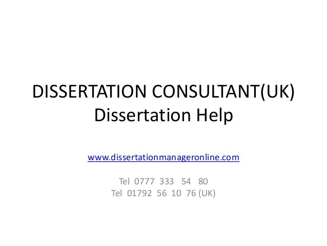 Dissertation consultant reviews