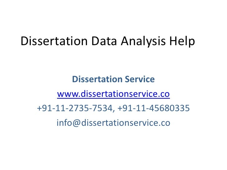 Help with dissertation data analysis