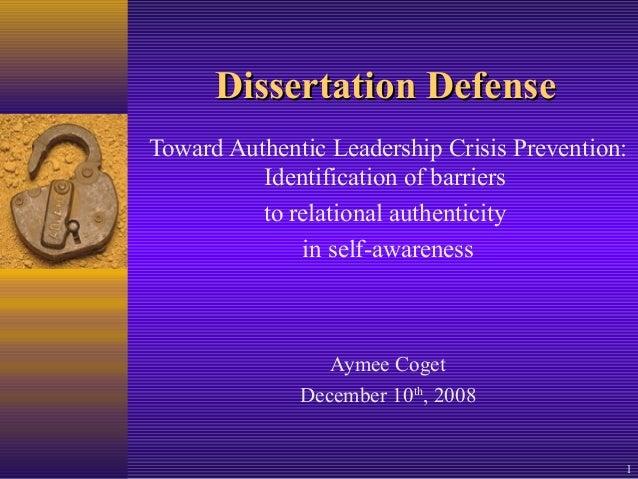 Doctoral dissertation leadership education