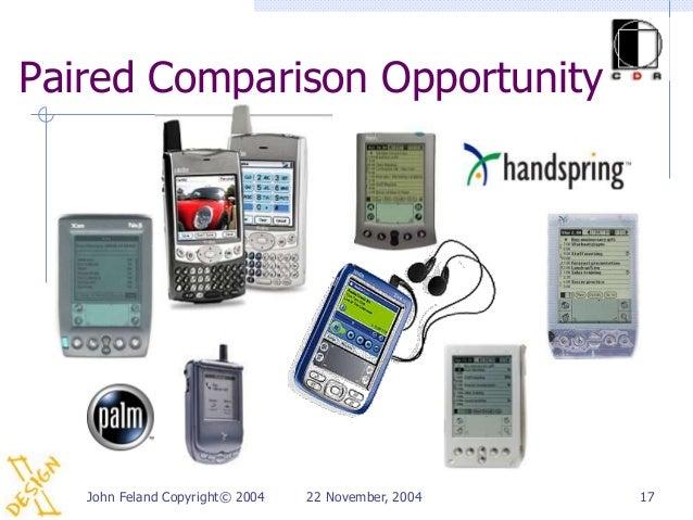 Paired Comparison Opportunity   John Feland Copyright© 2004   22 November, 2004   17