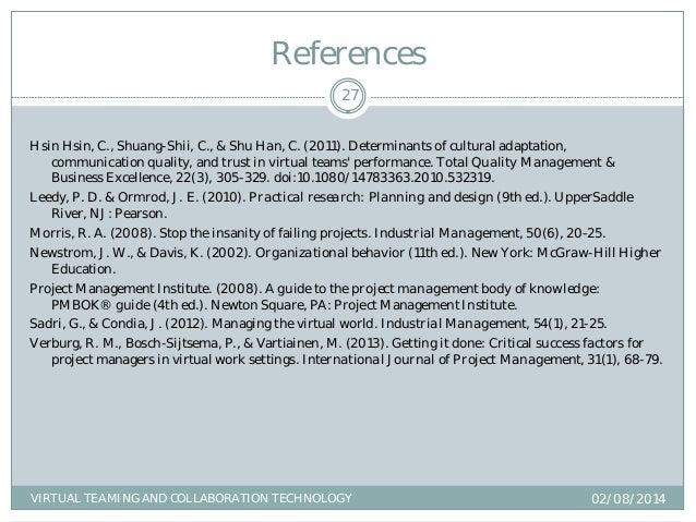 Gary Broils D B A Dissertation Defense Virtual Teaming And Colla