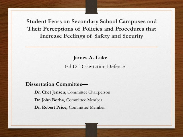 Dissertation defence video