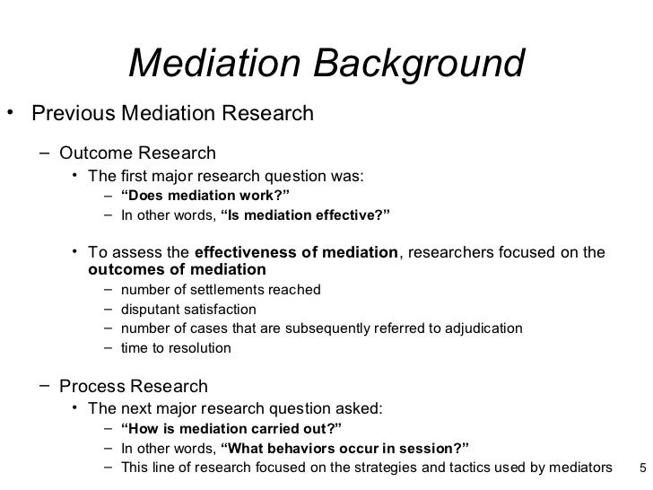 dissertation on mediation This free law essay on dissertation: certification and training programme of a mediator is perfect for law students to use as an example.