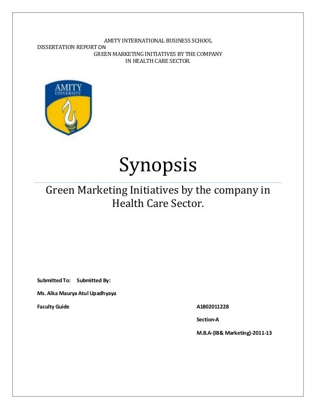 dissertation report green marketing