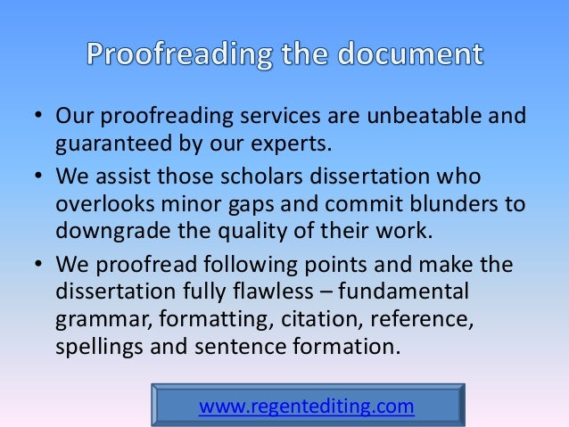 Finish editing with proofreading