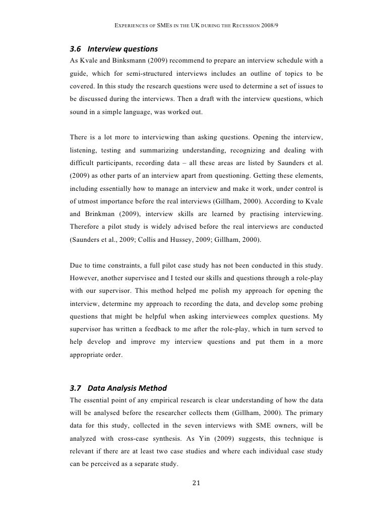 Writing Master Thesis Data Analysis