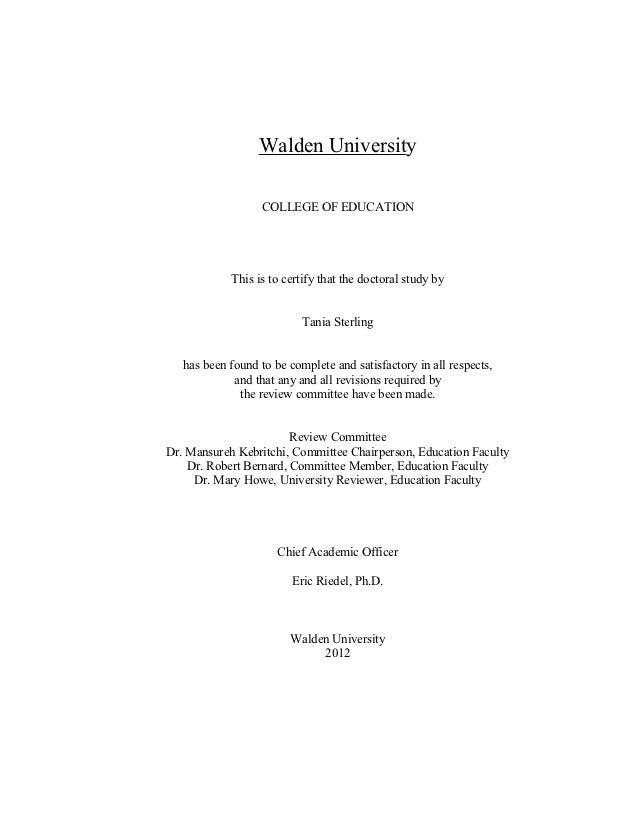 Walden University                                                           ...
