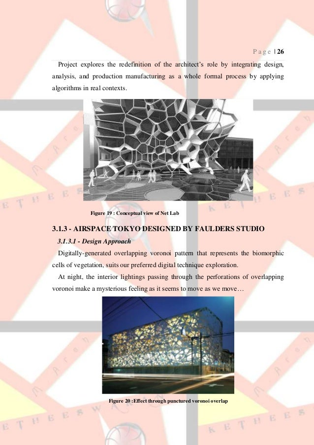Use of voronoi diagram in an architecture design optimization 27 ccuart Images