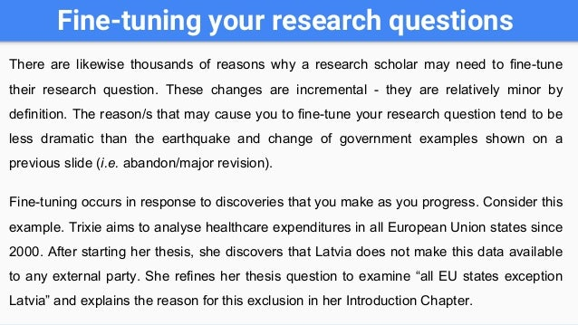 good research questions for dissertations