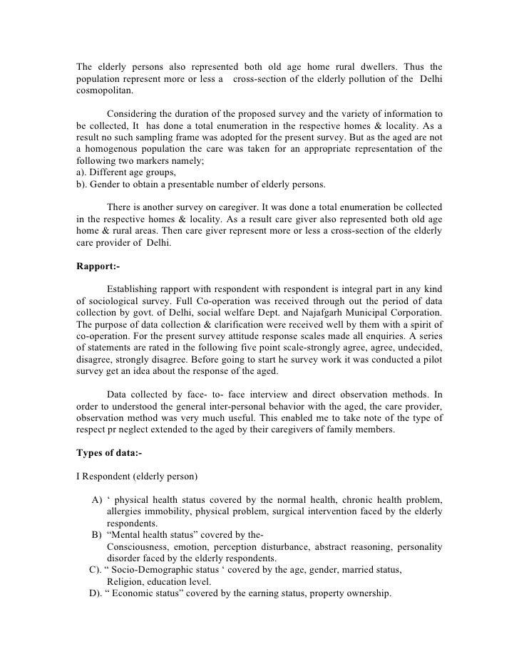 The elderly people Free Essay Example