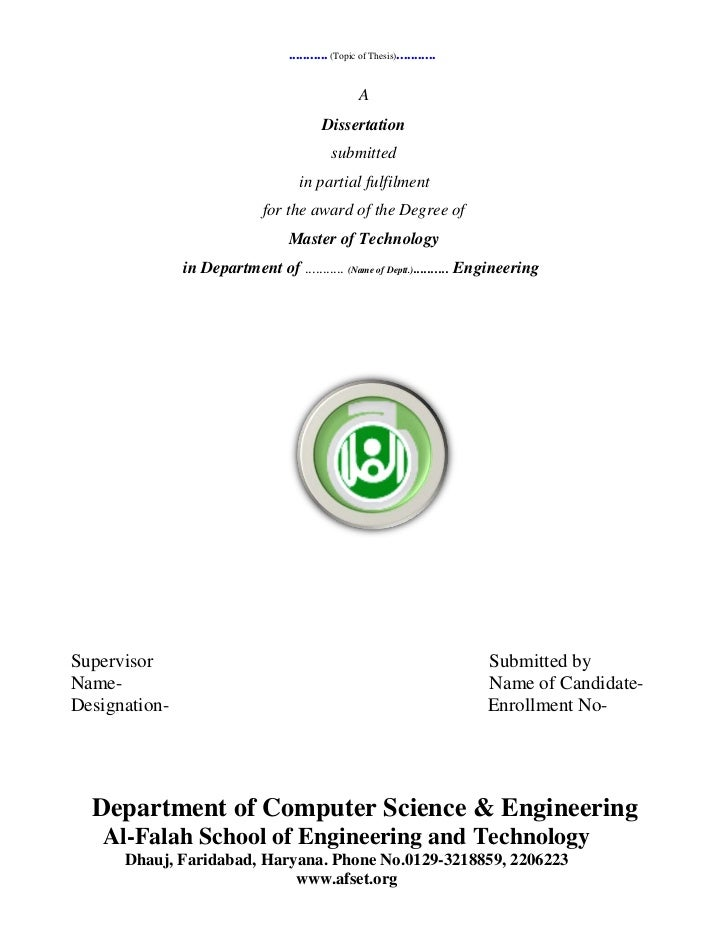 Dissertation thesis 2011