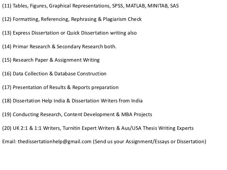 Dissertation help literature review sample